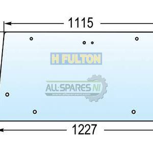 Massey Ferguson 300 Series Rear Upper Glass Window (Silver Cab) - 3476182M1-0