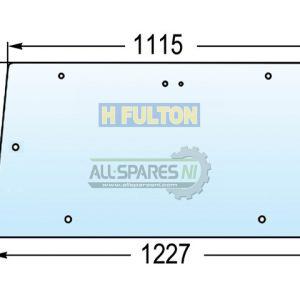Massey Ferguson 300 Series Rear Upper Glass Window-0