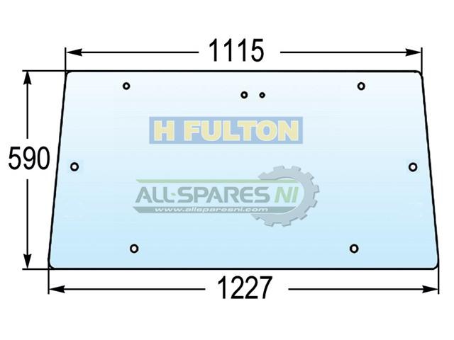 352 355 350 A-3477716M1 Massey Ferguson Parts GLASS UPPER REAR WINDOW 342