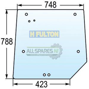 Massey Ferguson Rear Window Glass 4200, 4300 Series - 3821485M1-0