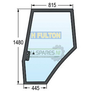 Massey Ferguson Left Side Door Window Glass (61, 62, 64, 74, 81 Series)-0