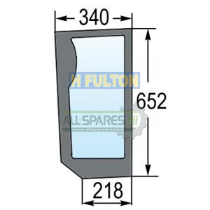 Lower Front Knee Left Window Glass TM Series-0