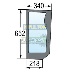Lower Front Knee Right Window Glass TM Series-0