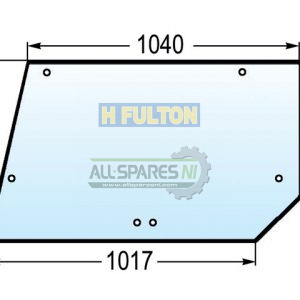 Case IH 4200 Series Rear Upper Window Glass - 144794A1-0
