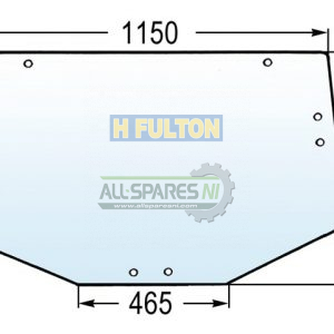 John Deere Rear Glass Window 6000/10/20/30 Series - L213351-0