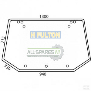 Ford New Holland Glass Window Rear Upper - 81865244-0